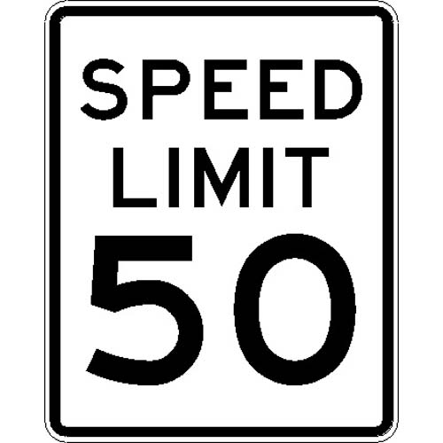 R2-1 Speed Limit 50