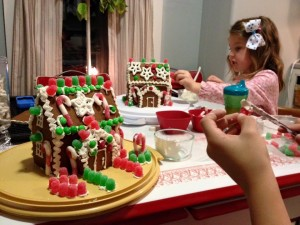 We made gingerbread houses!